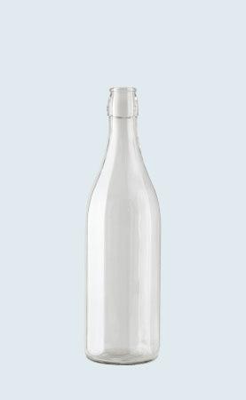 Bottiglia in vetro distilleria Costolata 100